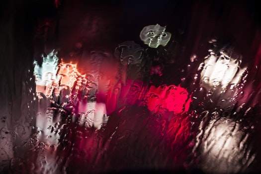 Free stock photo of red, glass, rainy, rain
