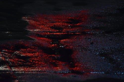 gece, kaldırım, kırmızı, Su içeren Ücretsiz stok fotoğraf