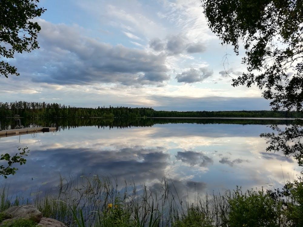 mraky, zrcadlový obraz