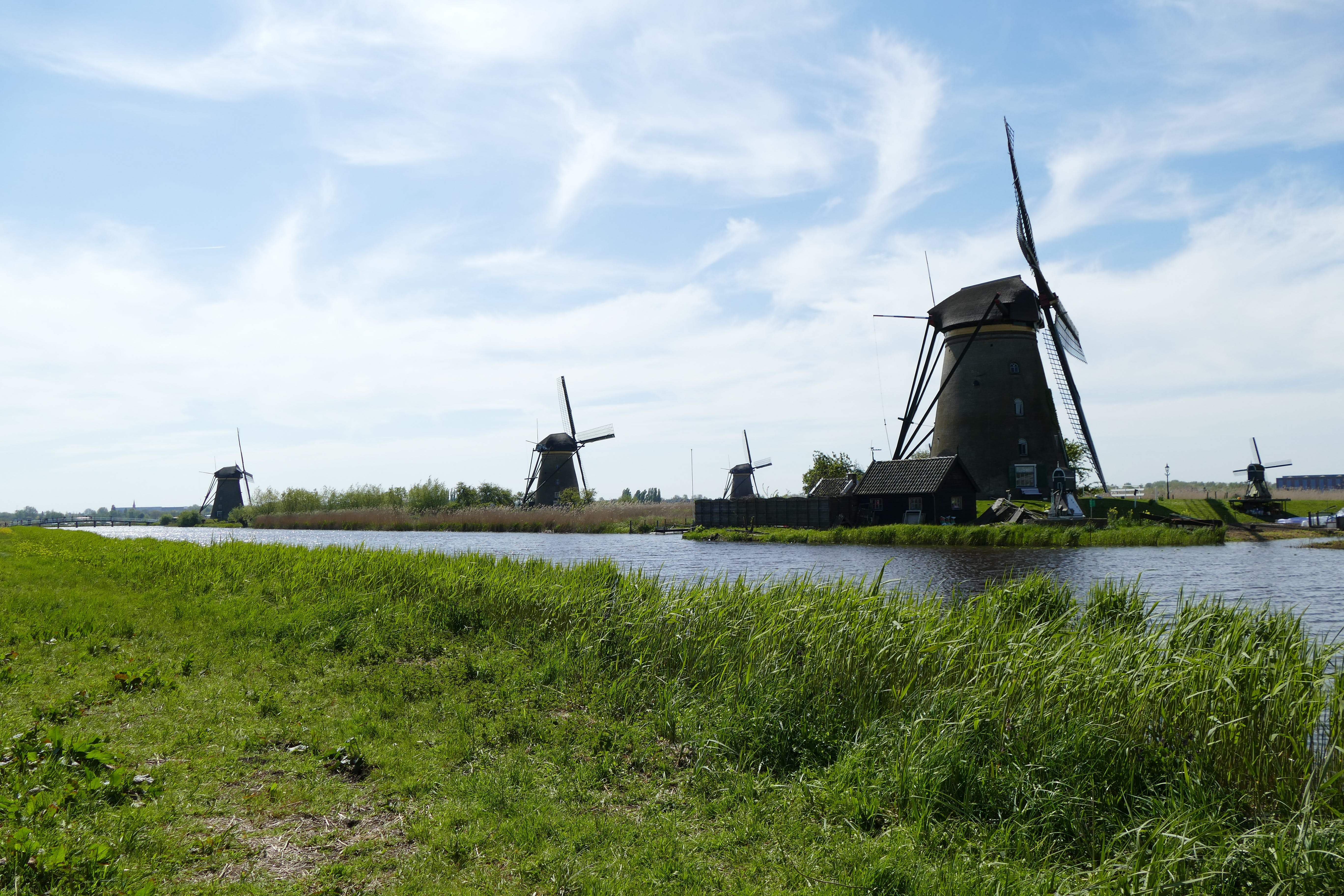 Free stock photo of netherlands, mill, tourist attraction, calm waters