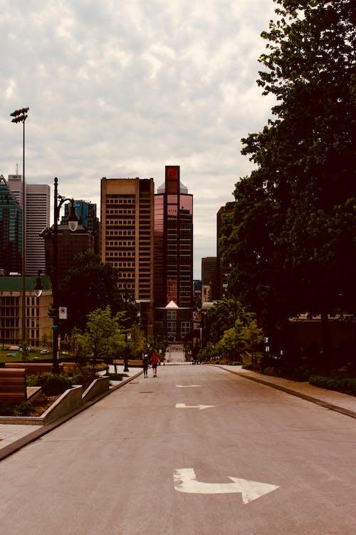Empty Road Near Buildings