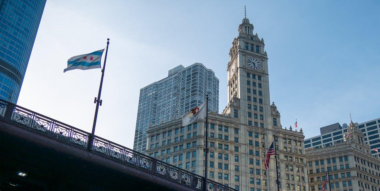 chicago, rakennus, silta