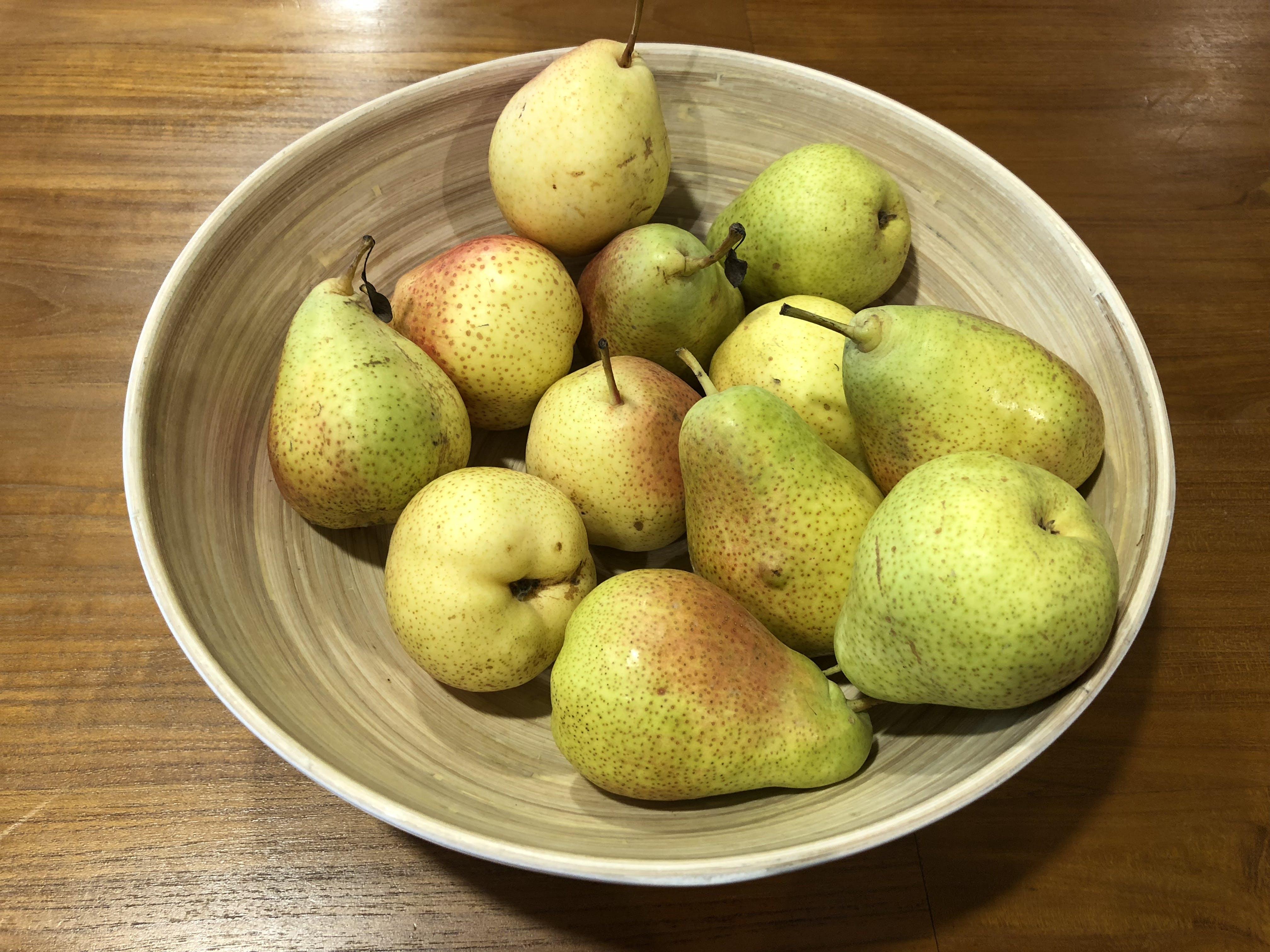 Free stock photo of bowl, bowl of fruit, fruit, pear