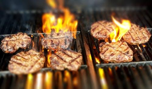 Photos gratuites de des hamburgers, feu, gril, griller