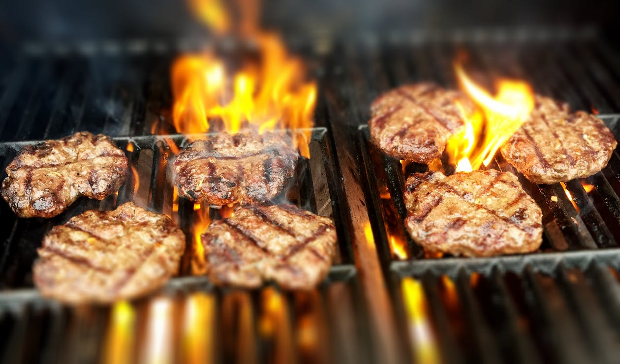 Free stock photo of burgers, fire, grill