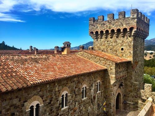 Photos gratuites de cave viticole, château, vignoble napa