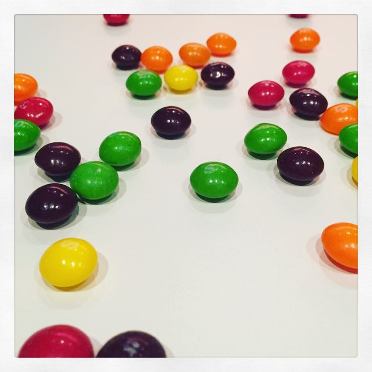 Free stock photo of candy, skittles