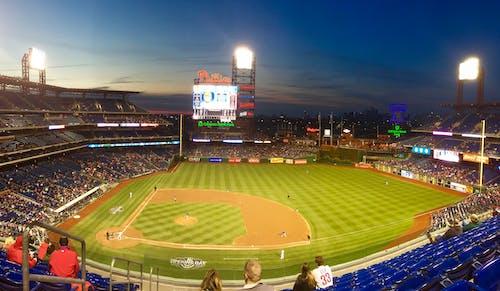 Photos gratuites de baseball, stade, terrain de sport