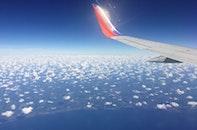 sky, clouds, airplane