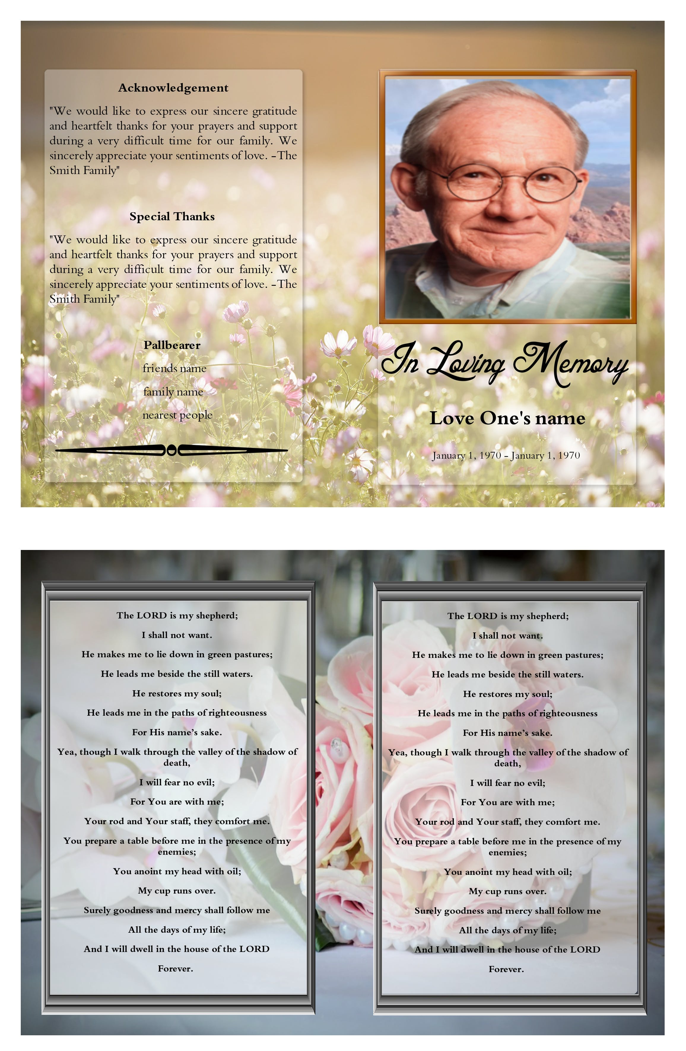 Free Stock Photo Of Infant Trifold Funeral Program Trifold Funeral