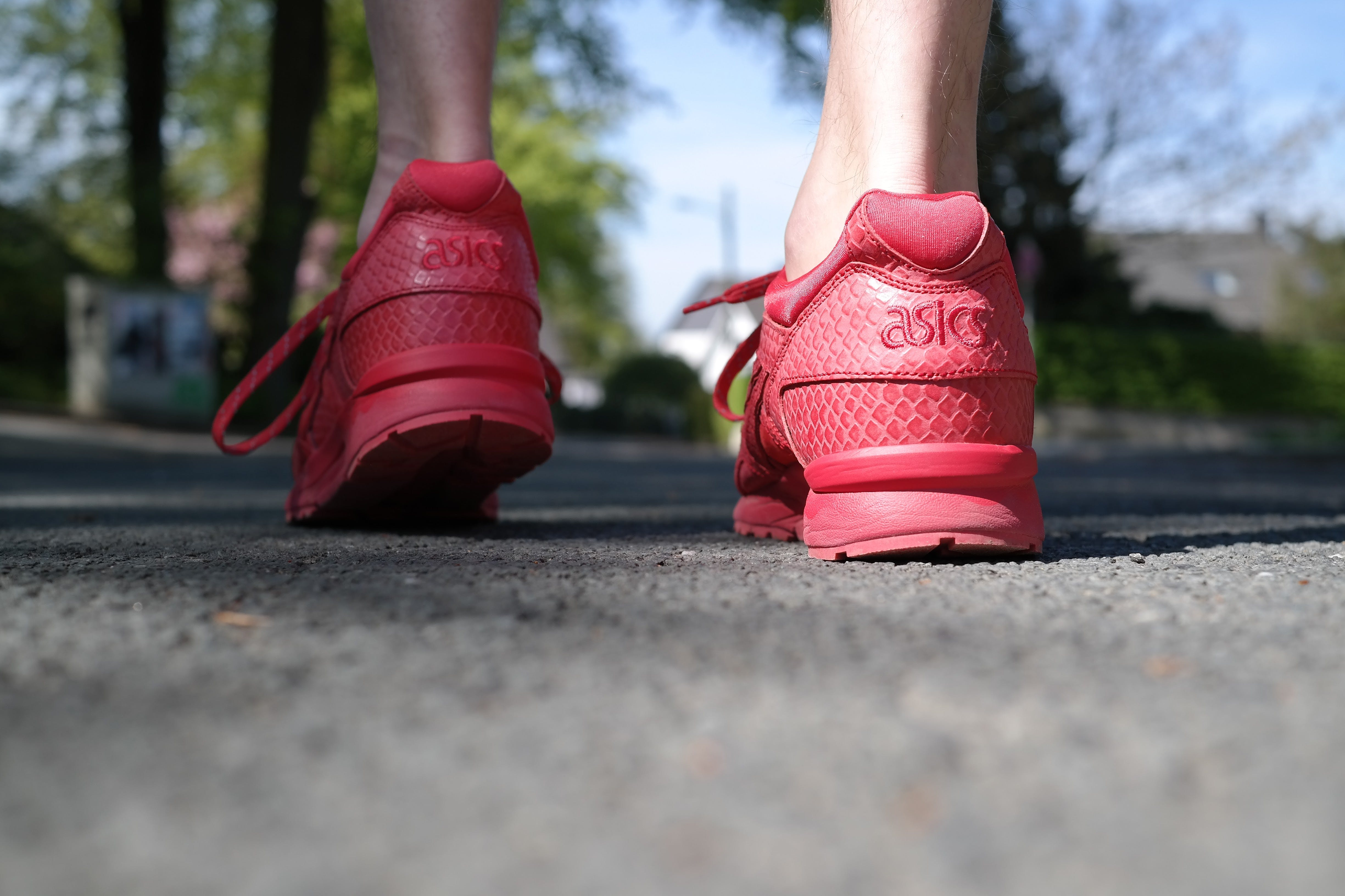 Photo of Person Wearing Red Low-top Sneakers