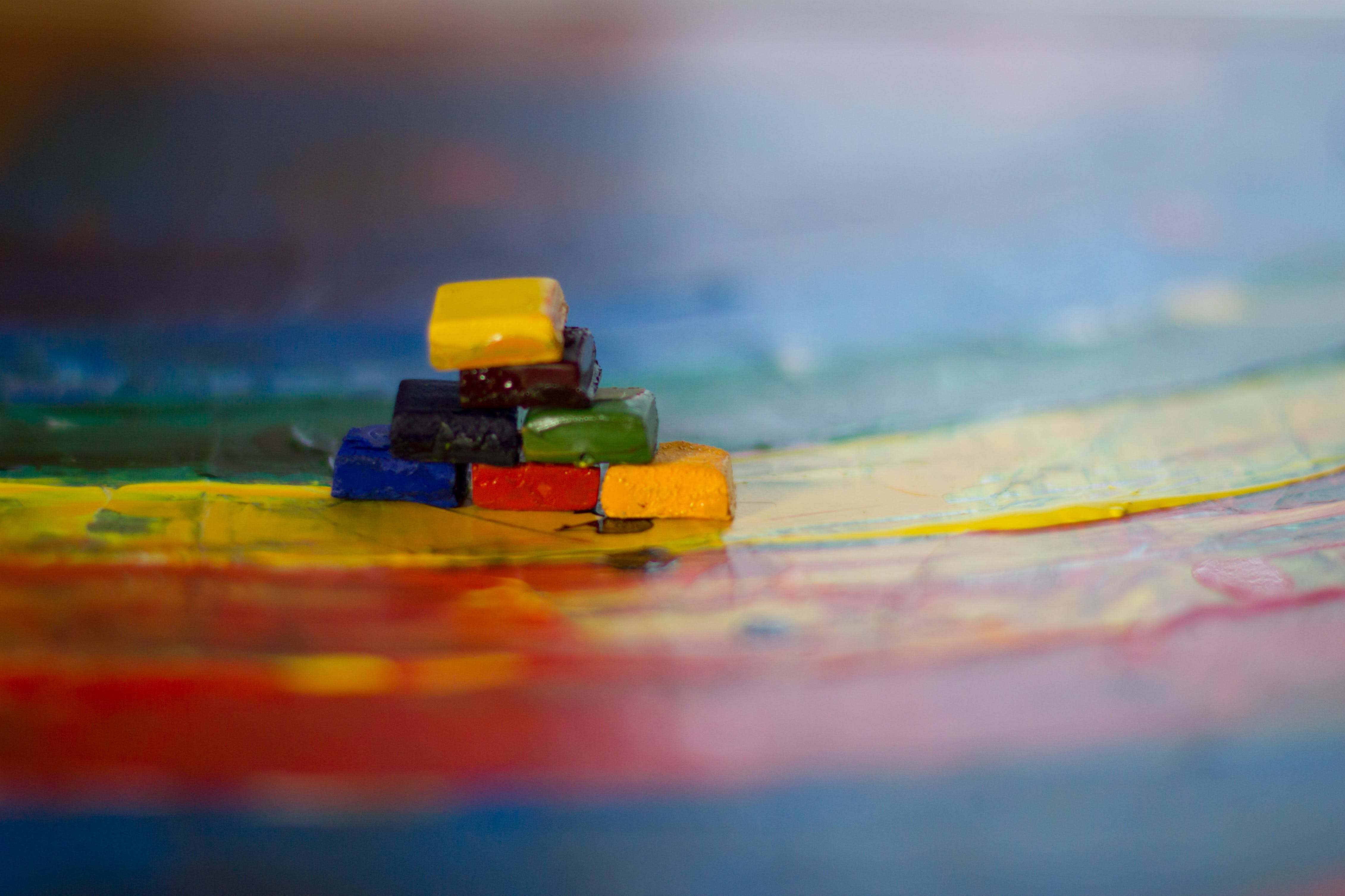 Focus Photo of Assorted-color Stacked Blocks