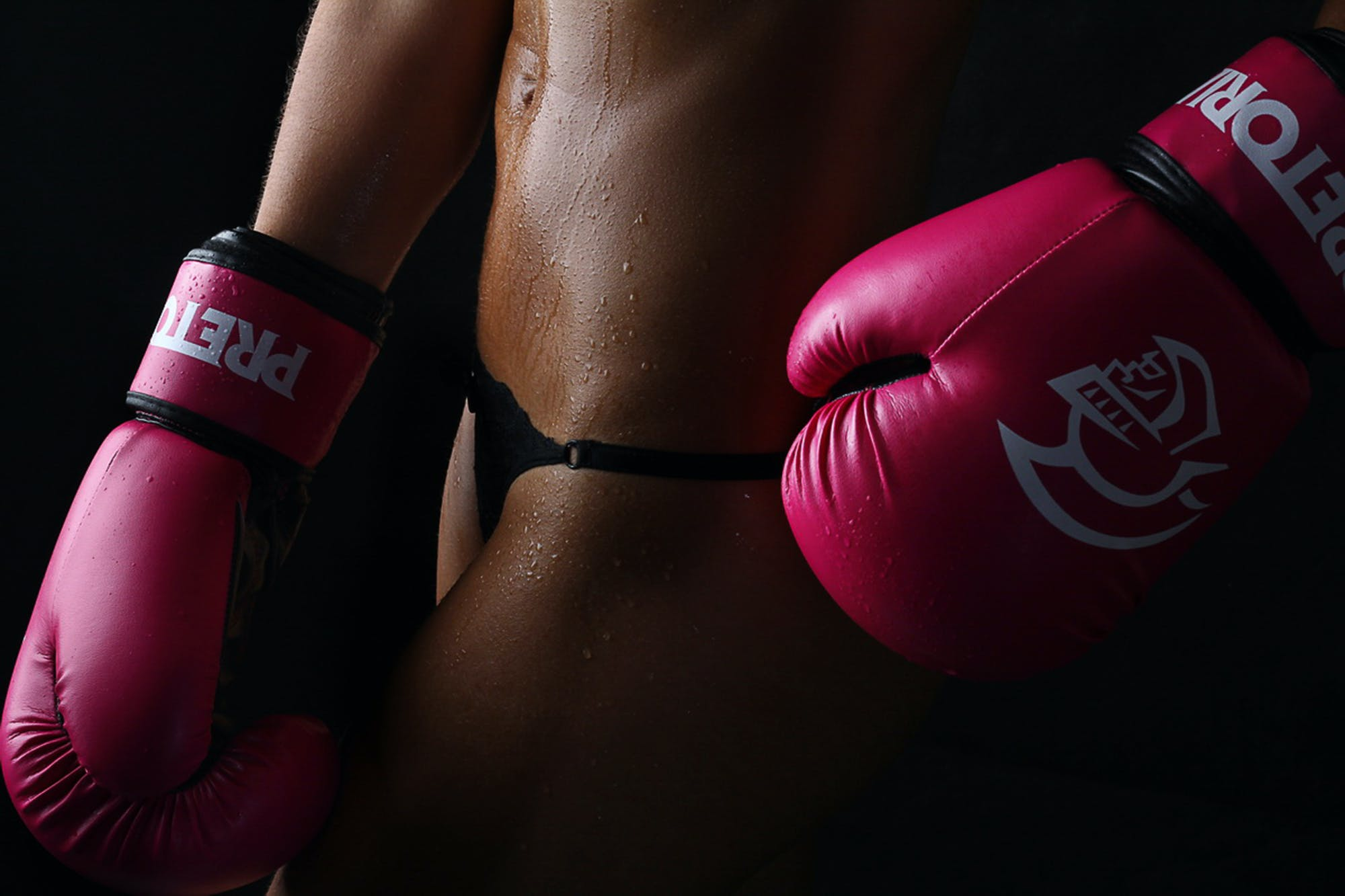 Photo of Woman Wearing Pair of Red Training Gloves