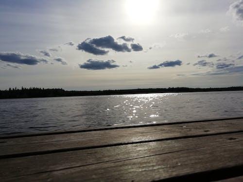 Základová fotografie zdarma na téma slunce, voda, zamračená obloha