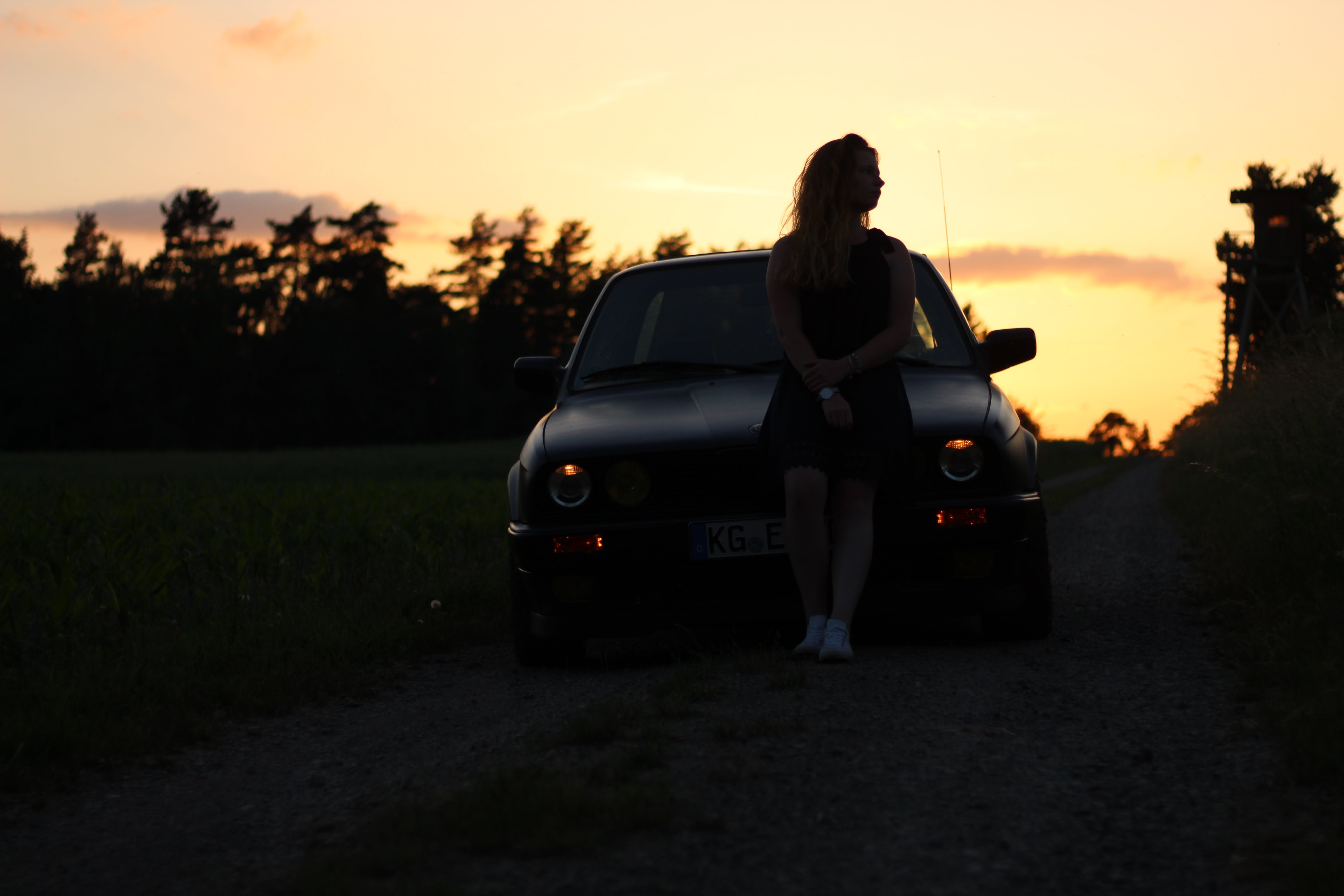 Free stock photo of BMW, e30, i love you, young girl
