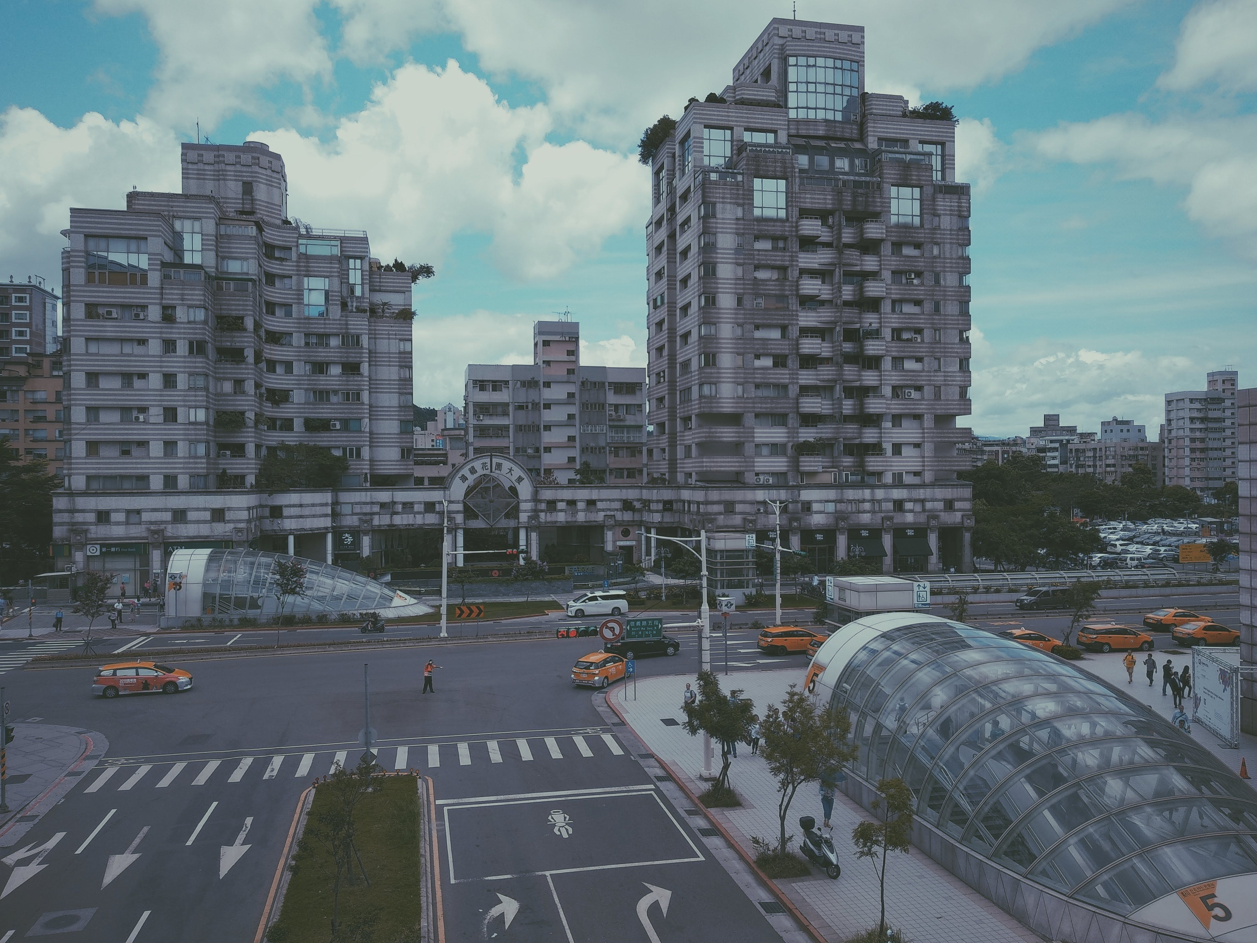 Free stock photo of building, intersection, mrt, sky
