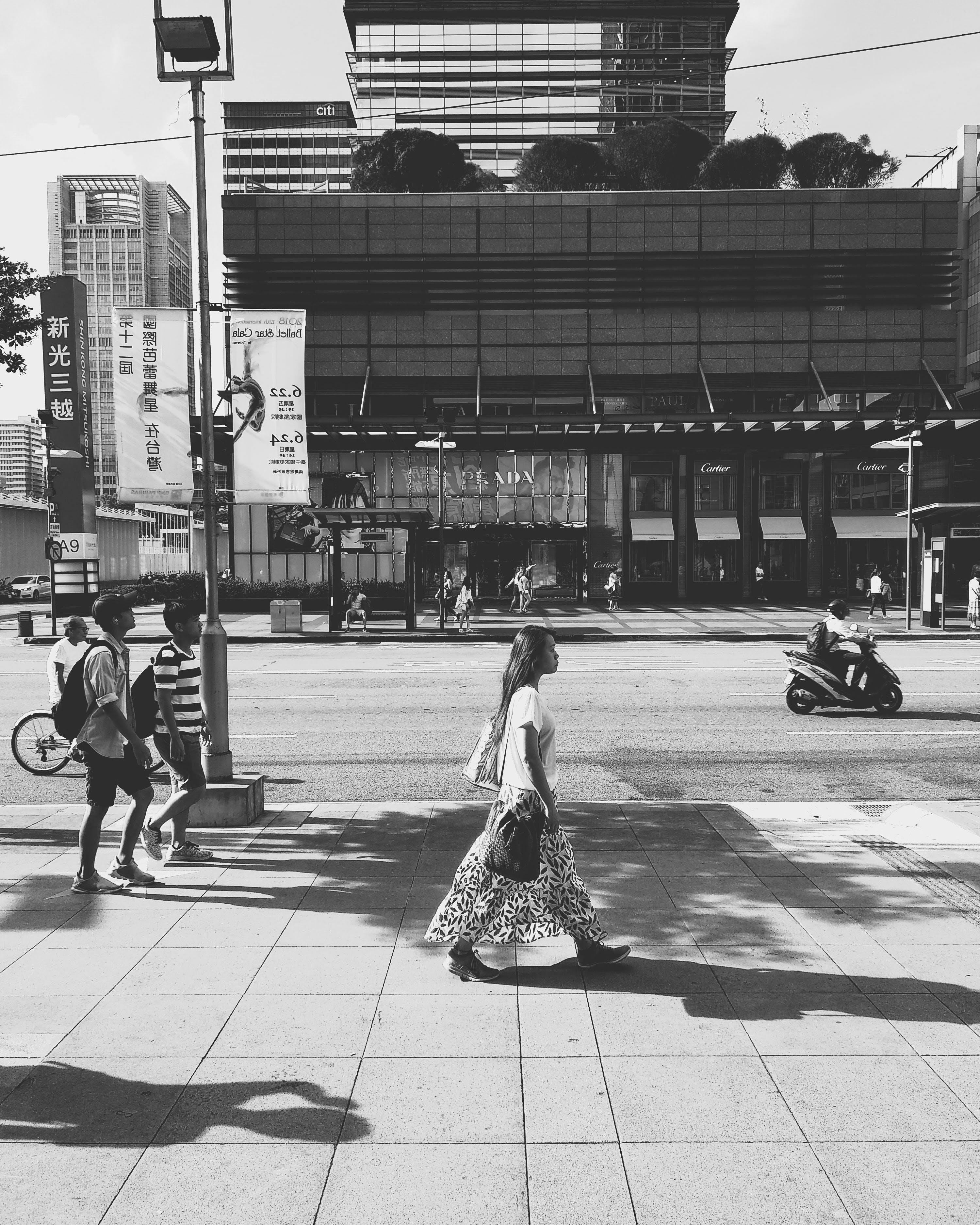 Free stock photo of Asian, black and white, boy, bw
