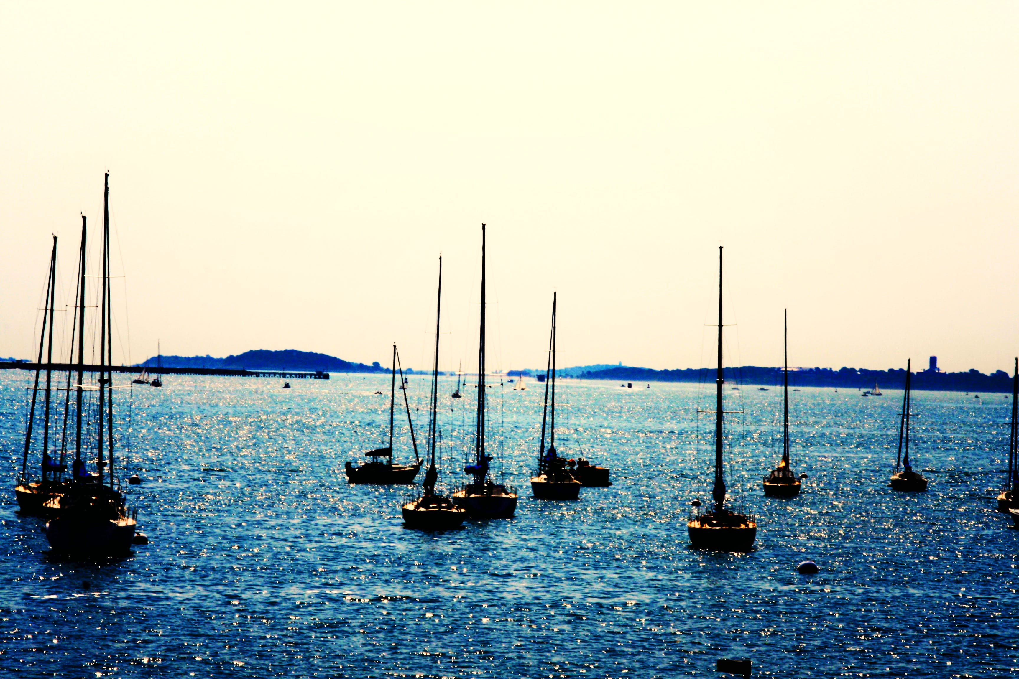Free stock photo of blue, boats, boston, evening
