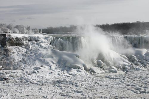 Gratis stockfoto met sneeuw, waterval