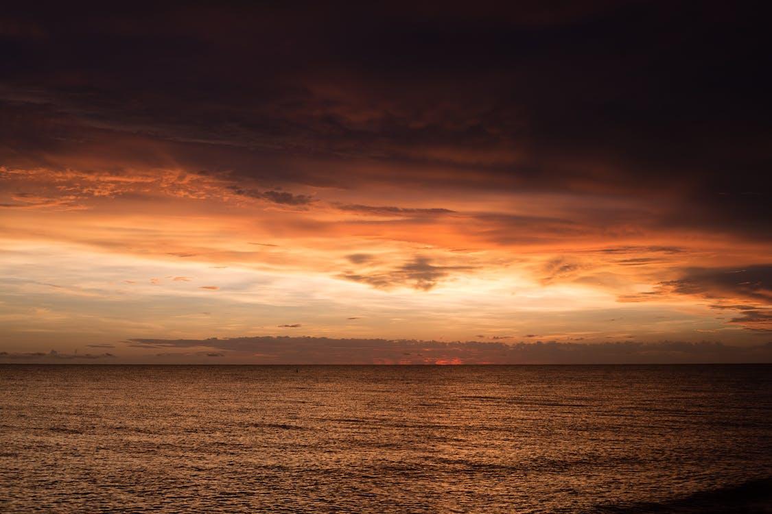 bulutlar, deniz, gökyüzü