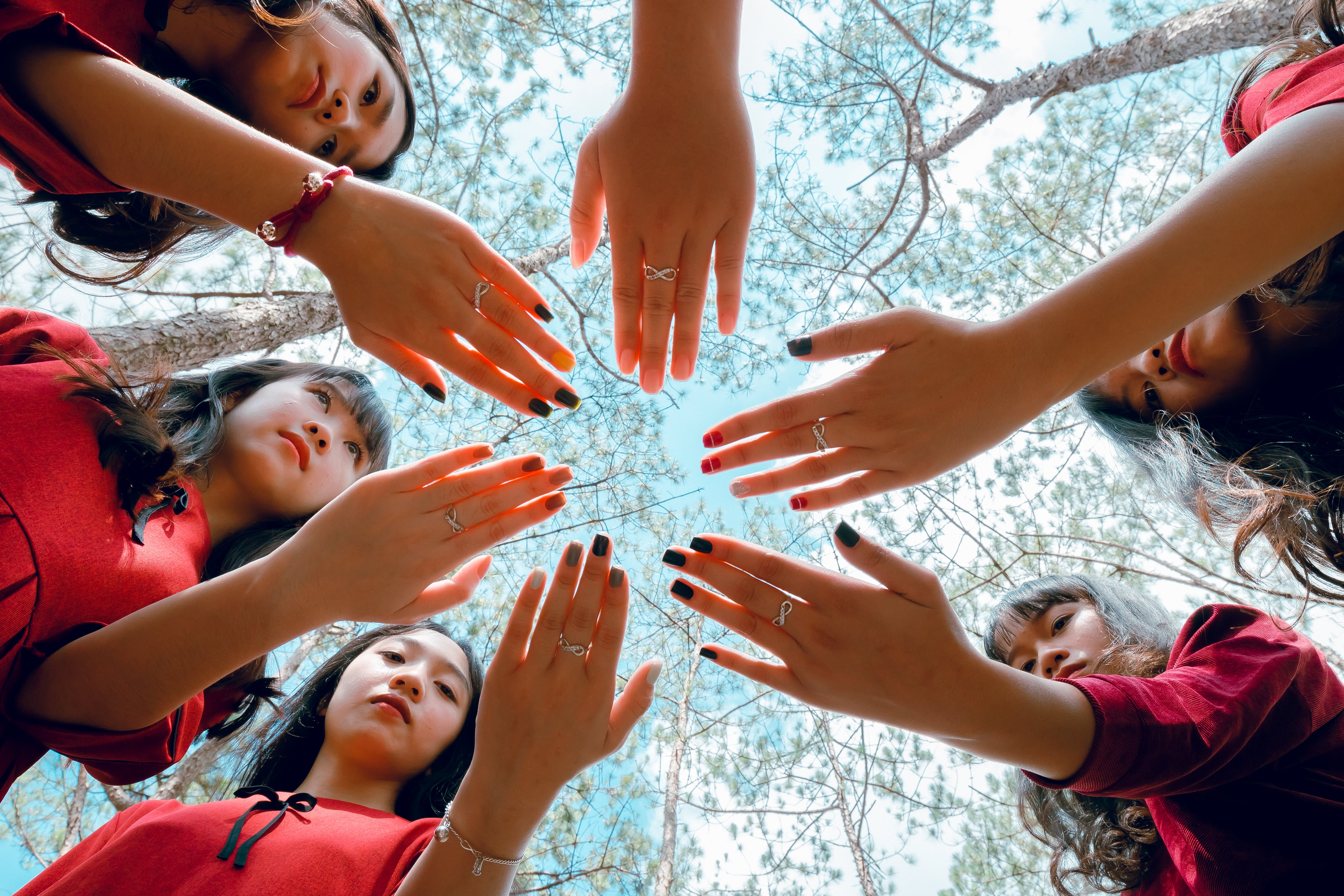 Photo of Girls Showing Their Hands
