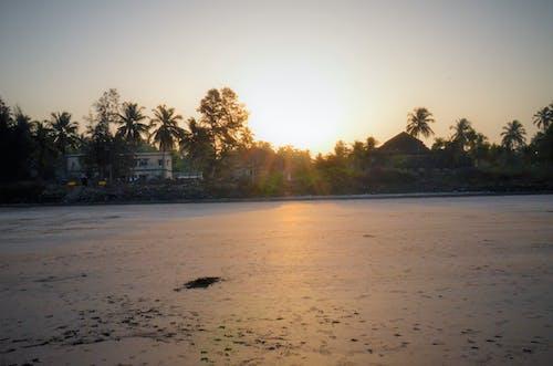 Foto d'estoc gratuïta de alba, atractiu, mar, platja