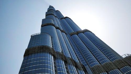 Бесплатное стоковое фото с бурдж-халифа, голубое небо, дубай, здание