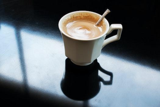 Free stock photo of coffee, spoon, breakfast, window
