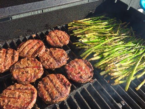 Photos gratuites de asperges, griller, hamburgers, légumes