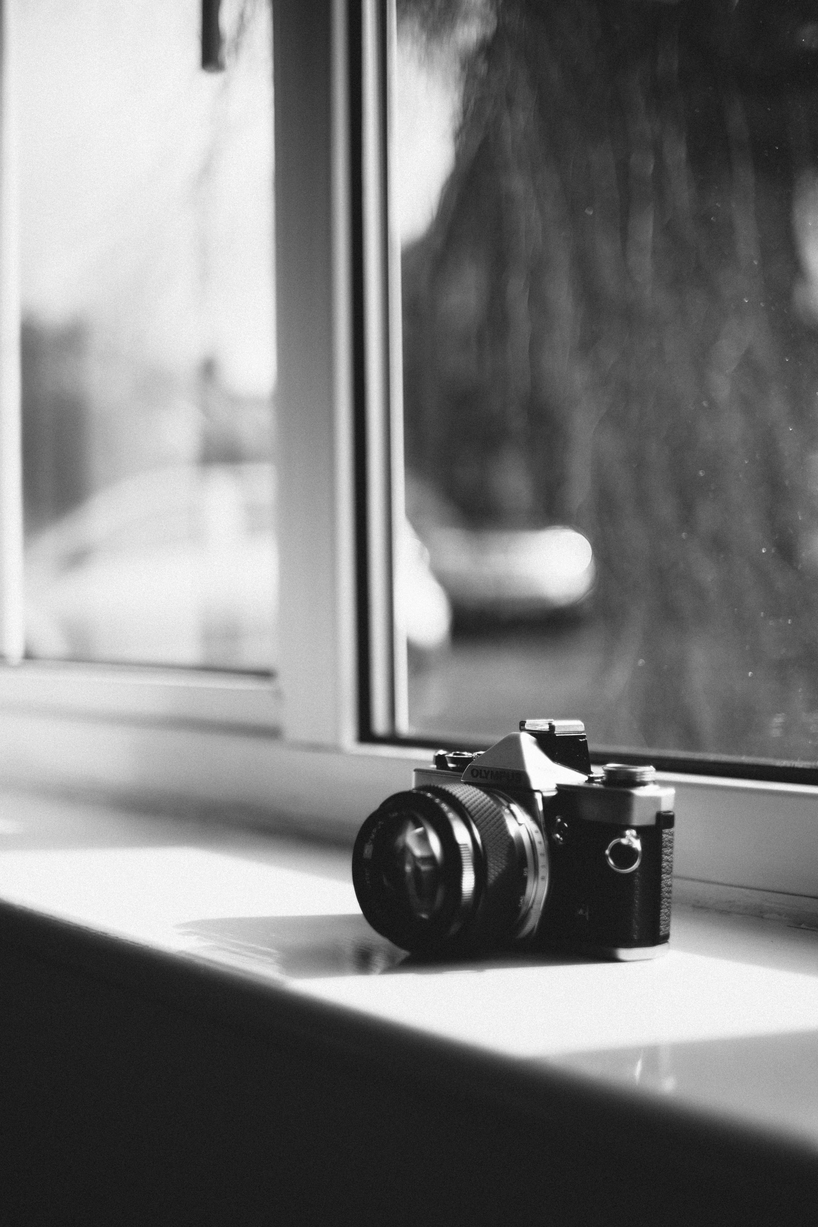 Grayscale Photography of Dslr Camera