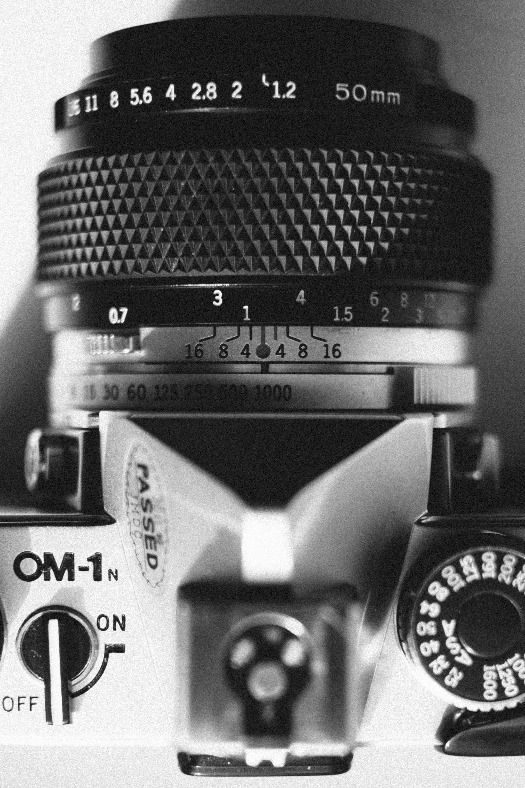 Grayscale Photo of Mirrorless Camera