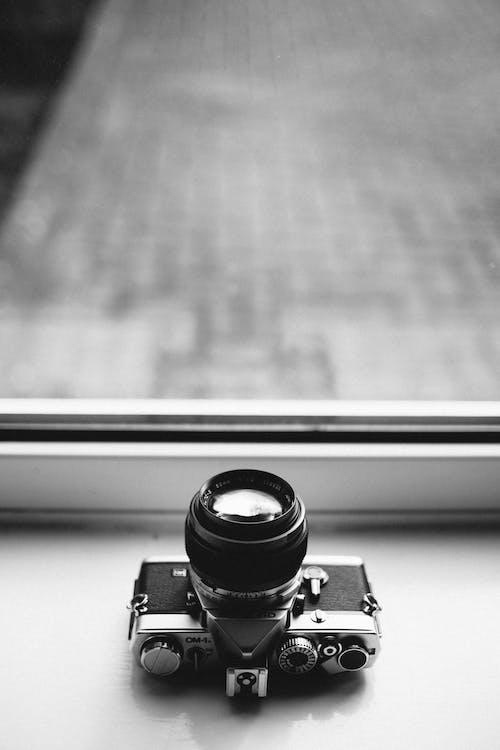 Imagine de stoc gratuită din alb-negru, aparat de fotografiat, apertură, clasic
