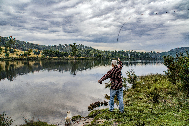 Woman Doing Fishing