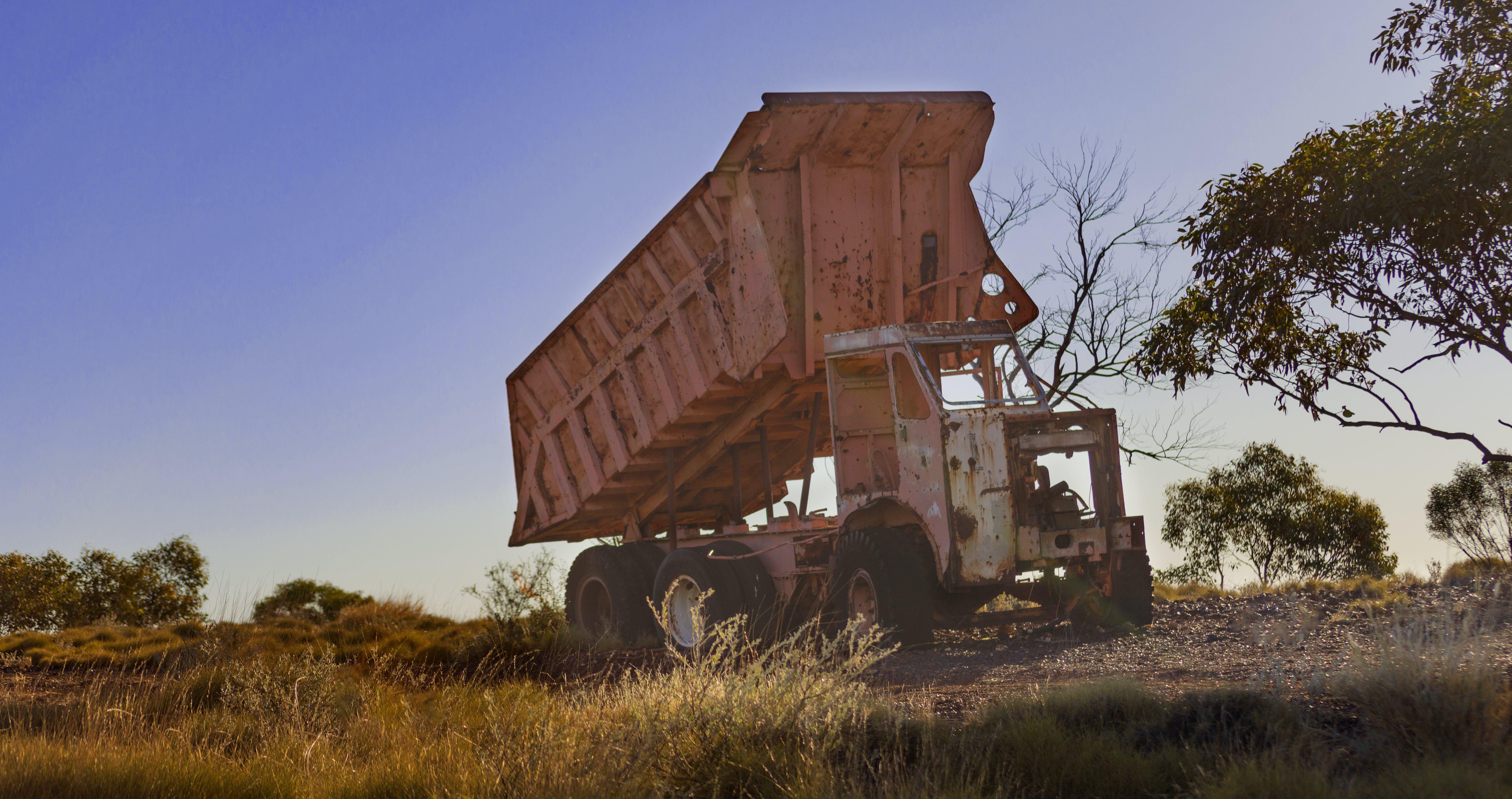 Free stock photo of abandoned, mining, truck, trucks