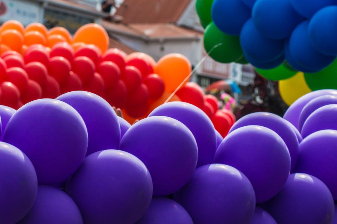 balón, farba, farebný