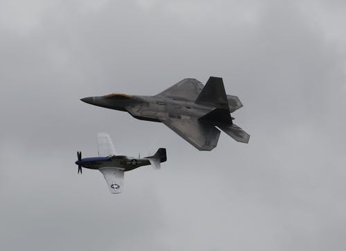 Fotos de stock gratuitas de espectáculo aéreo, f22, p51