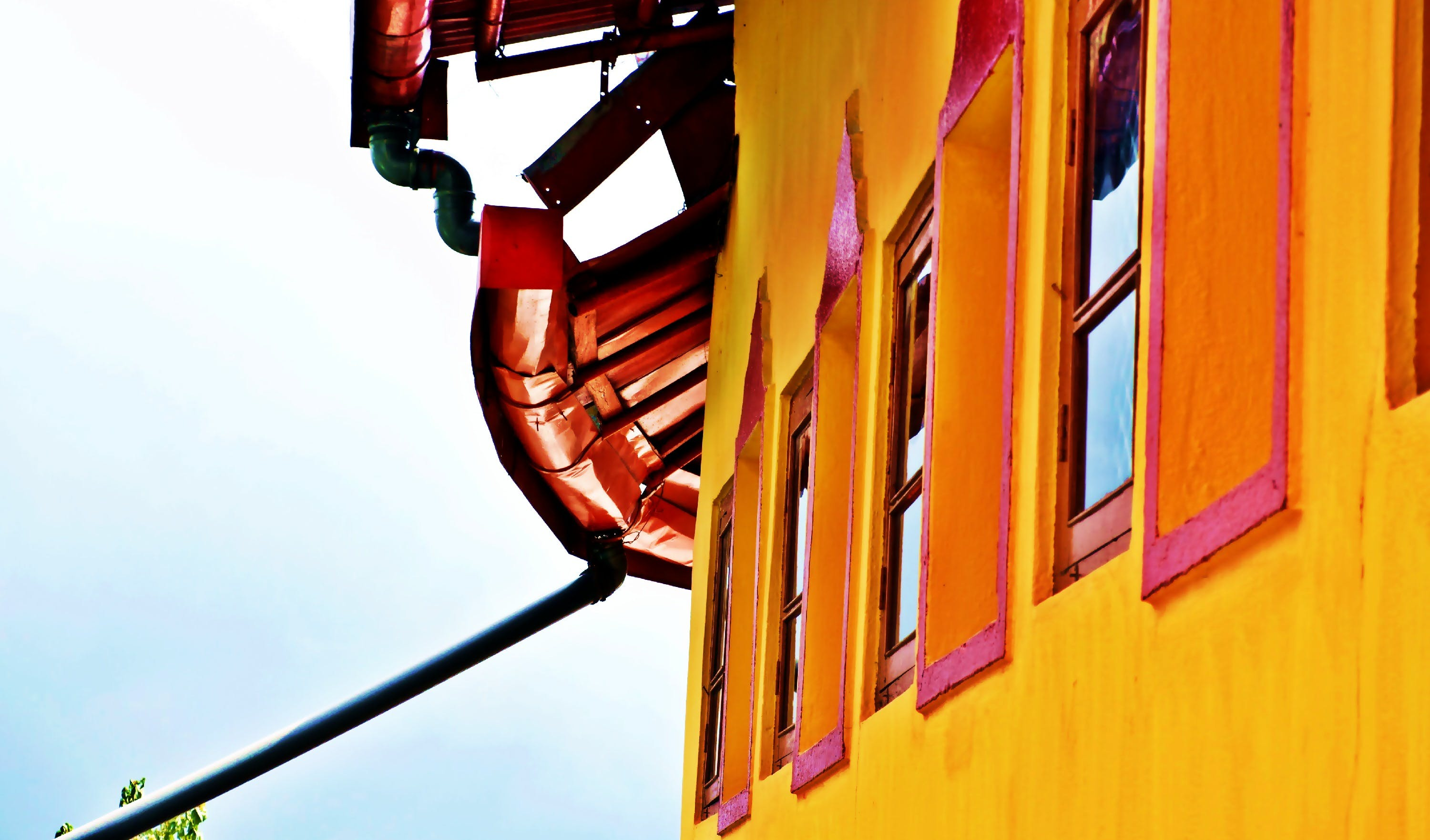 Free stock photo of colours, house, india, red