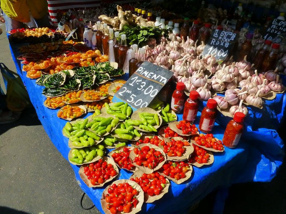 brésil, marché aux épices, rio de janeiro