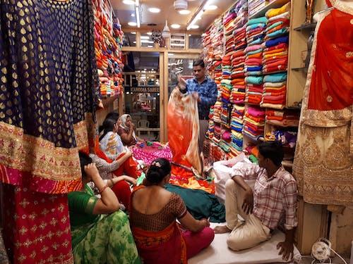 Photos gratuites de inde, jaipur, sari shop