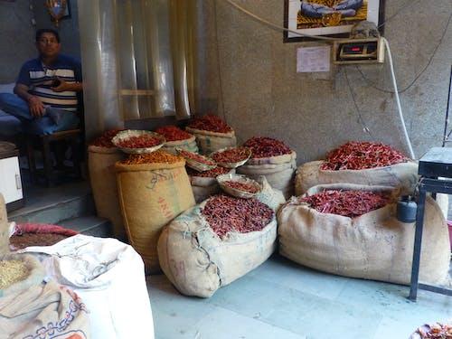 Photos gratuites de delhi, inde, marché aux épices
