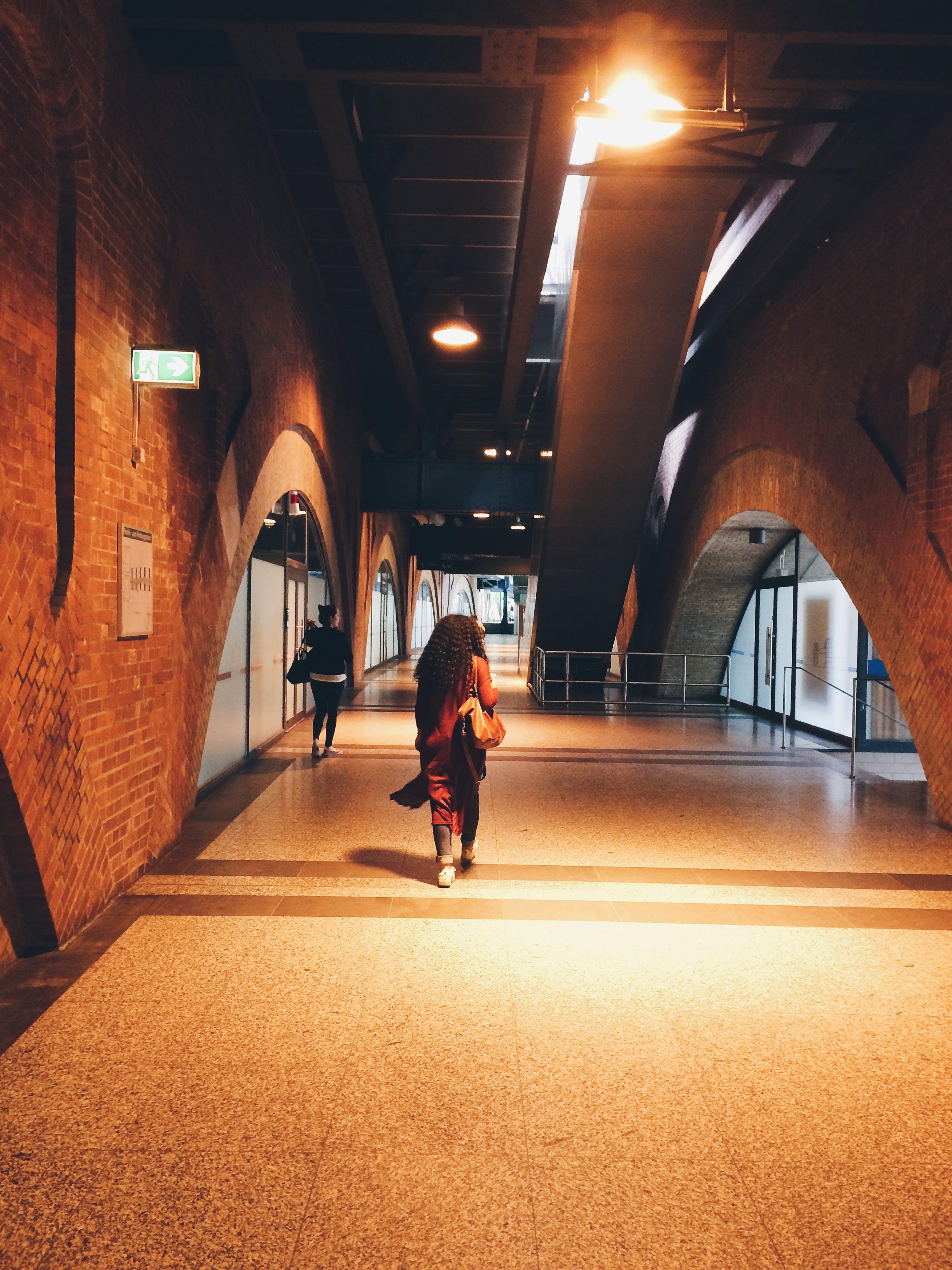 Free stock photo of light, woman, street, walking