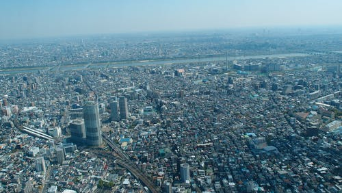 Free stock photo of bird s eye view, buildings, city