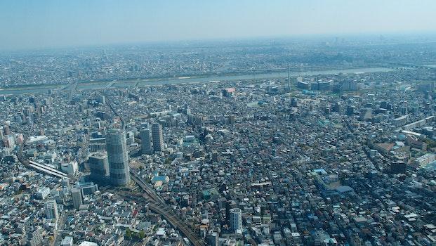 Free stock photo of city, bird's eye view, buildings, topview