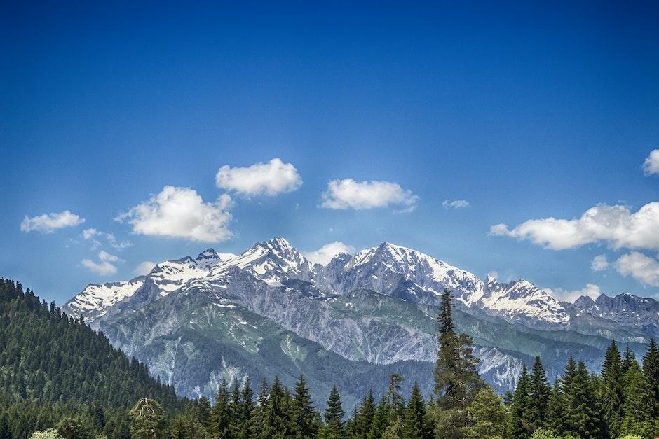 clouds, landscape, mountain