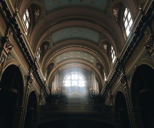 Free stock photo of arc, church, light