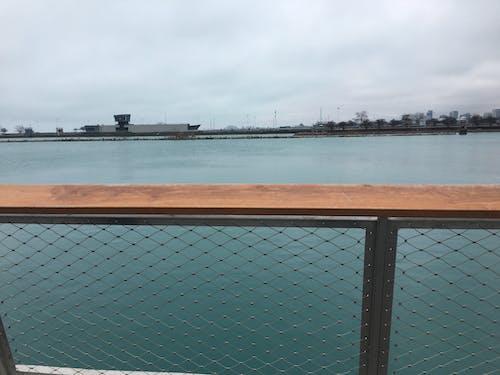 Free stock photo of fence, lake michigan