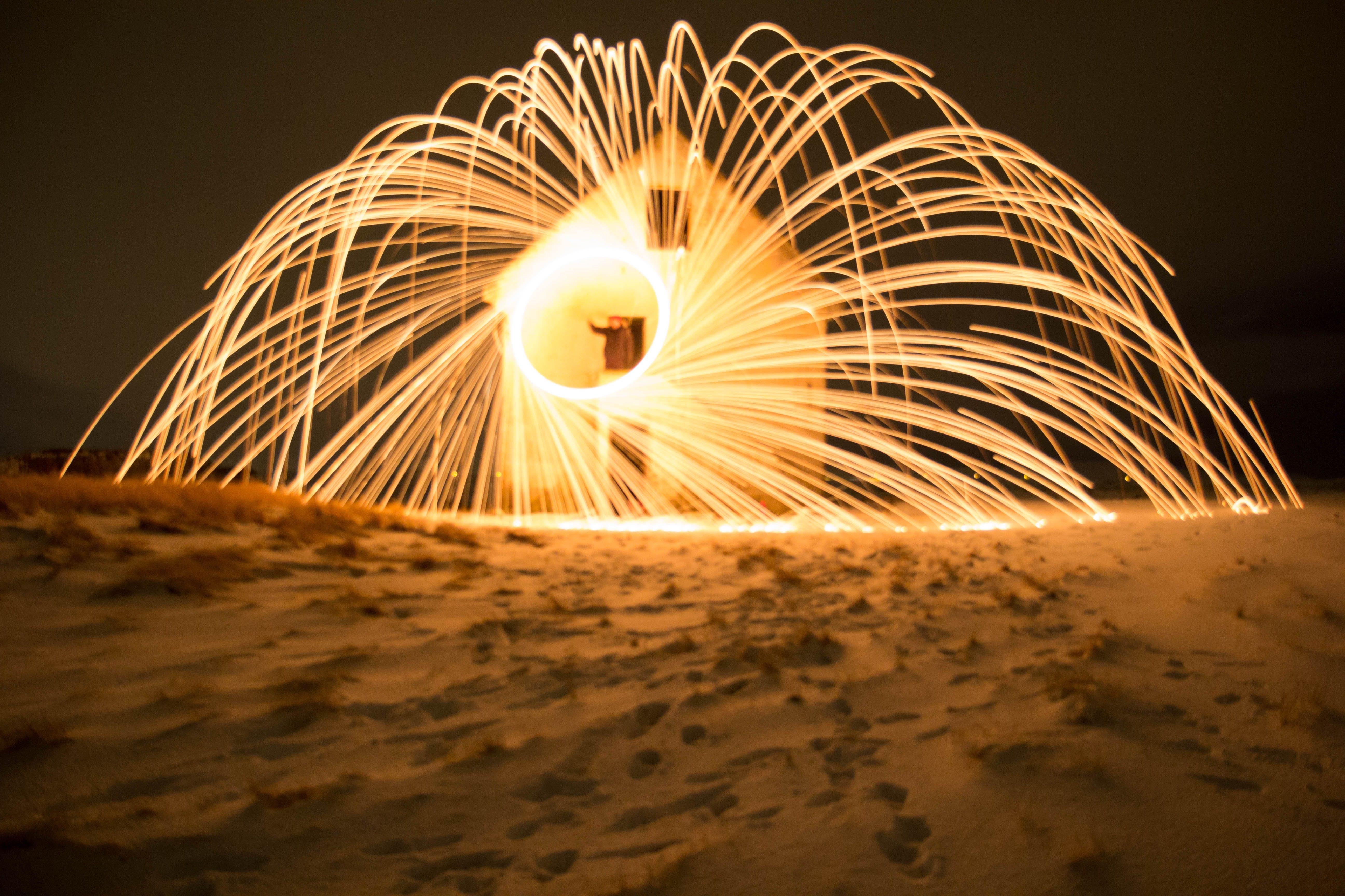Free stock photo of iceland, night, winter, fire