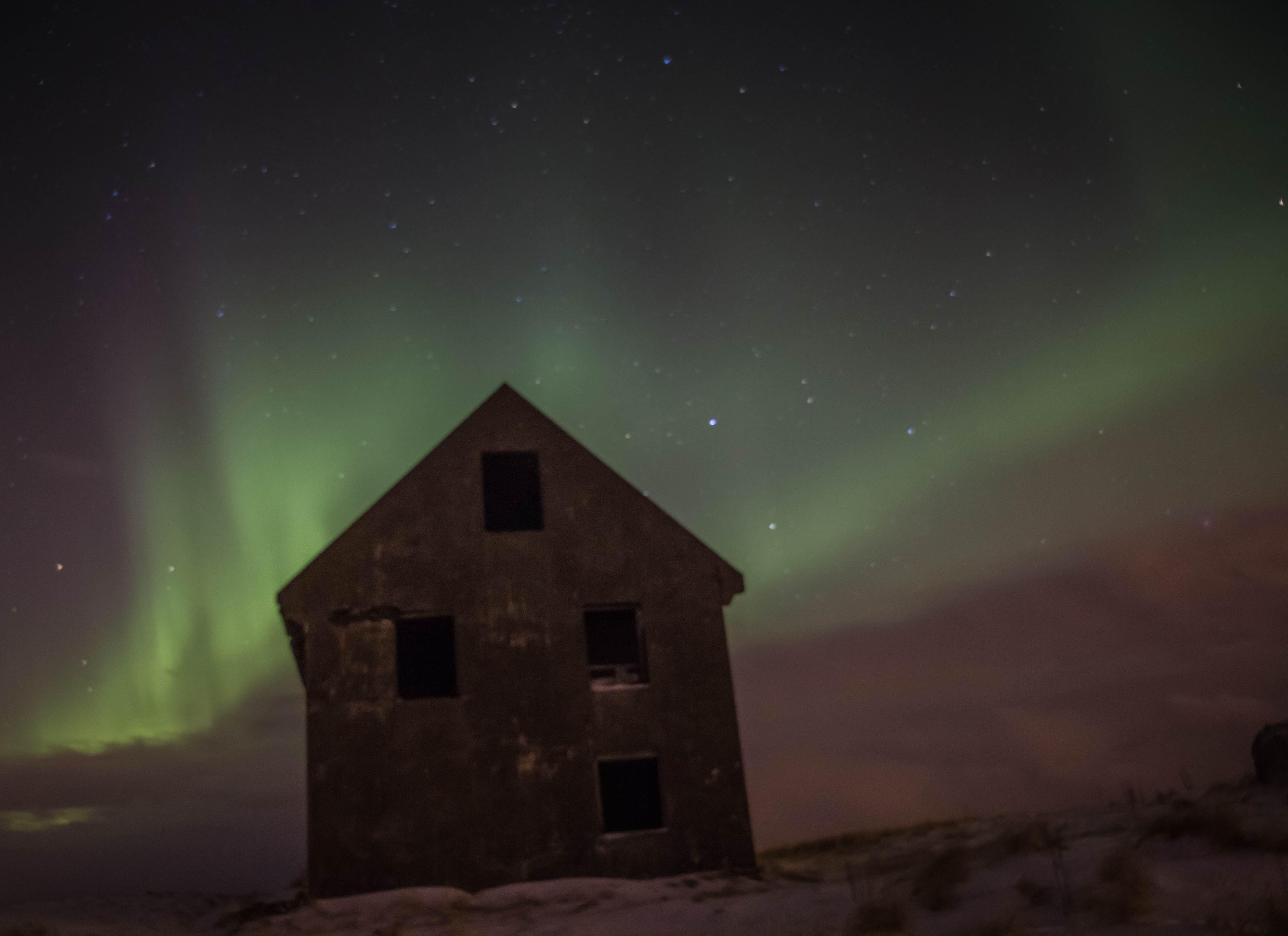 aurora, aurora borealis, iceland