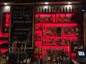 red, alcohol, bar
