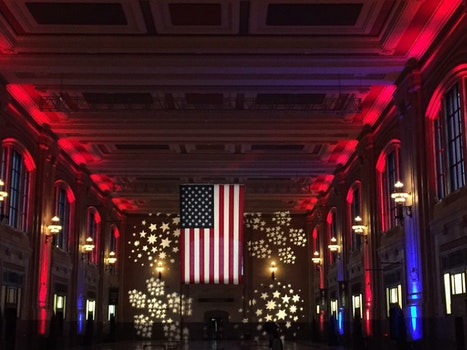 Free stock photo of united states of america, Union Station, American flag
